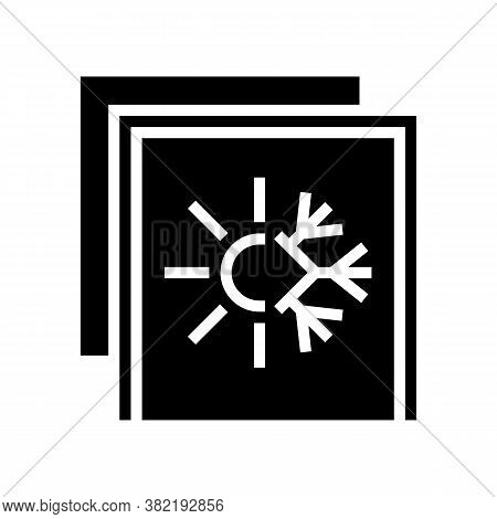 Summer And Winter Insulation Layer Glyph Icon Vector. Summer And Winter Insulation Layer Sign. Isola