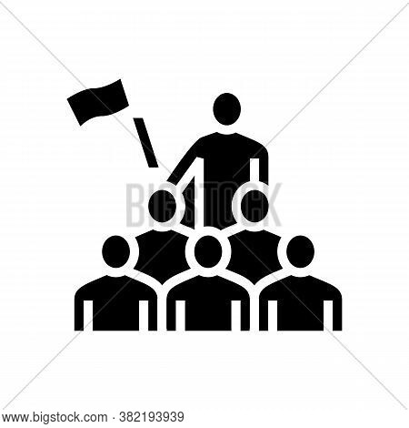 Employees Leadership Glyph Icon Vector. Employees Leadership Sign. Isolated Contour Symbol Black Ill