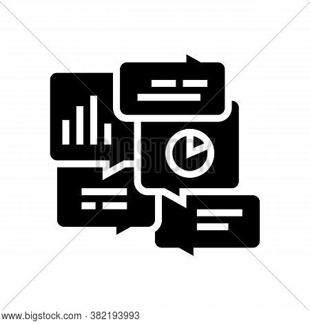 Office Tasks Discussing Glyph Icon Vector. Office Tasks Discussing Sign. Isolated Contour Symbol Bla