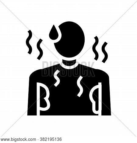 Sweat Perspiration Human Glyph Icon Vector. Sweat Perspiration Human Sign. Isolated Contour Symbol B