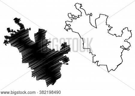 Queretaro City (united Mexican States, Mexico, Queretaro State) Map Vector Illustration, Scribble Sk