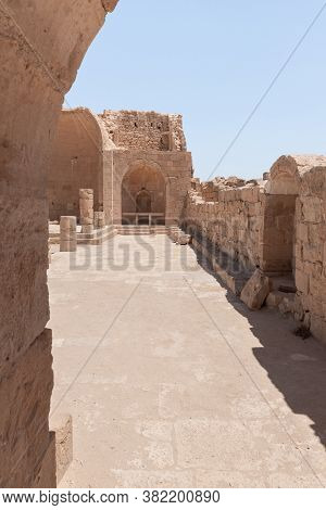 Entrance To The South Church In Ruins Of Shivta - A National Park In Southern Israel, Includes The R