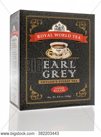Winneconne,  Wi - 24 July 2020:  A Package Of Royal World Tea Earl Grey Loose Kalami On An Isolated