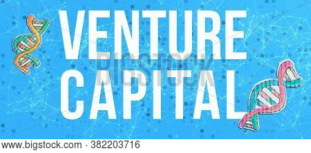 Venture Capital Theme With Dna And Abstract Network Patterns
