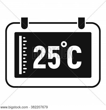 Digital Tablet Temperature Control Icon. Simple Illustration Of Digital Tablet Temperature Control V