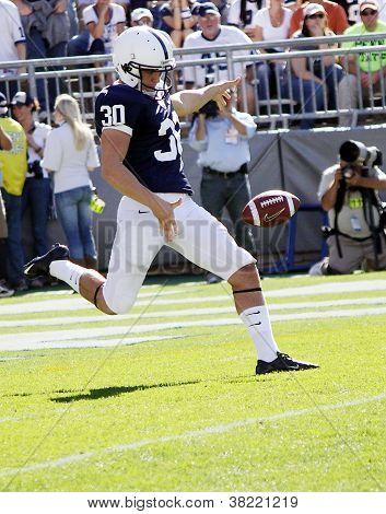 Penn State punter # 30 Anthony Ferra