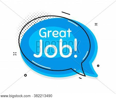 Great Job Symbol. Thought Chat Bubble. Recruitment Agency Sign. Hire Employees. Speech Bubble With L