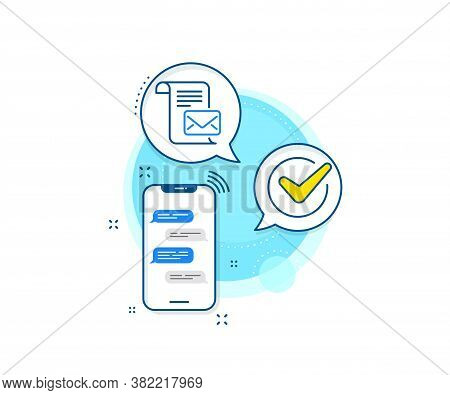 Read Message Correspondence Sign. Phone Messages Complex Icon. Mail Letter Line Icon. E-mail Symbol.