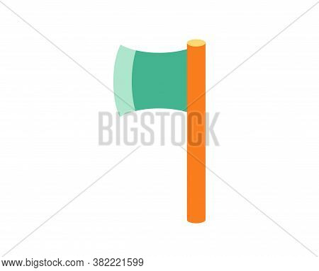 Isolated Ax Camping Implements Emoji Icon - Vector