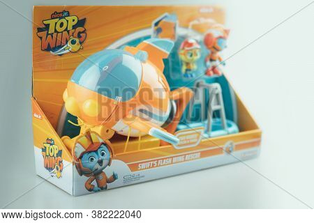 Samut Prakan, Thailand - August 24, 2020 : Cute Toy Of Top Wing Swift's Flash Wing Rescue In Set Sui