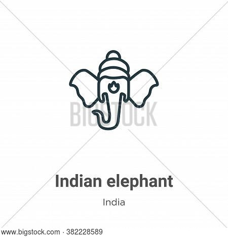 Indian elephant icon isolated on white background from india collection. Indian elephant icon trendy