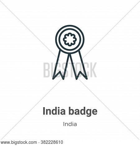 India badge icon isolated on white background from india collection. India badge icon trendy and mod