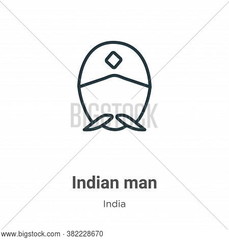 Indian man icon isolated on white background from india collection. Indian man icon trendy and moder
