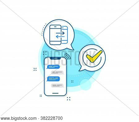 Incoming And Outgoing Call Sign. Phone Messages Complex Icon. Phone Communication Line Icon. Convers
