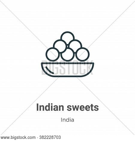 Indian sweets icon isolated on white background from india collection. Indian sweets icon trendy and