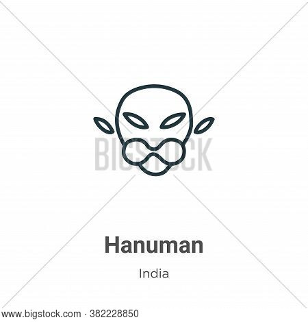 Hanuman icon isolated on white background from india collection. Hanuman icon trendy and modern Hanu