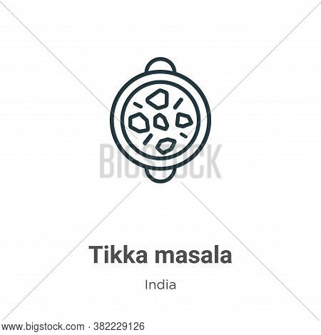 Tikka masala icon isolated on white background from india collection. Tikka masala icon trendy and m