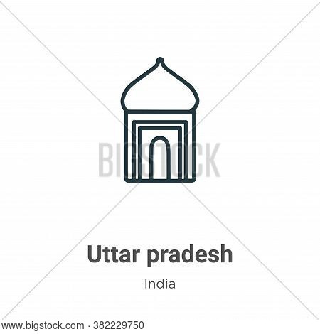 Uttar pradesh icon isolated on white background from india collection. Uttar pradesh icon trendy and