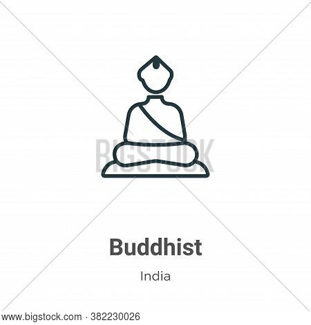 Buddhist icon isolated on white background from india collection. Buddhist icon trendy and modern Bu