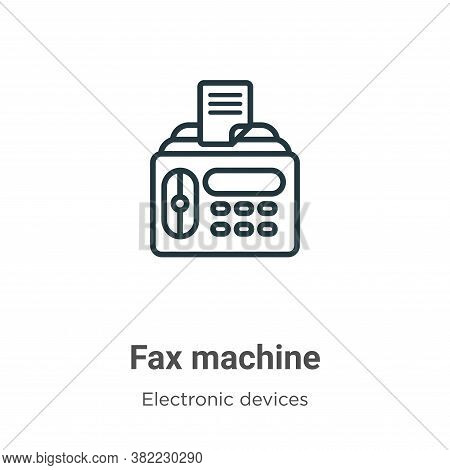 Fax machine icon isolated on white background from electronic devices collection. Fax machine icon t
