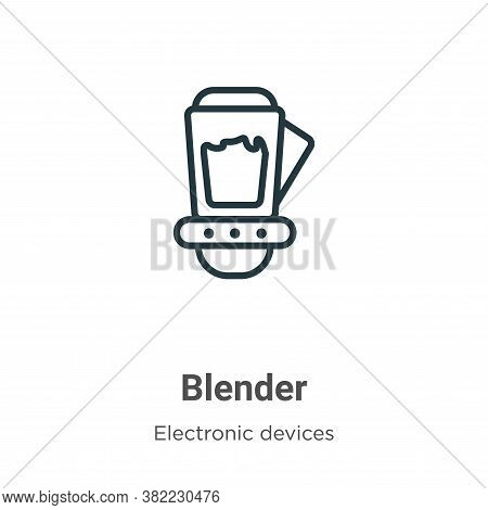 Blender icon isolated on white background from electronic devices collection. Blender icon trendy an