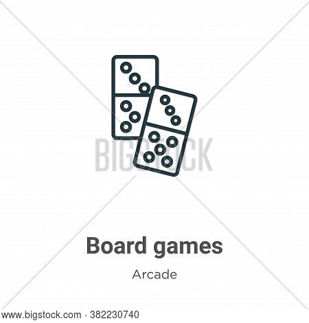 Board games icon isolated on white background from entertainment collection. Board games icon trendy
