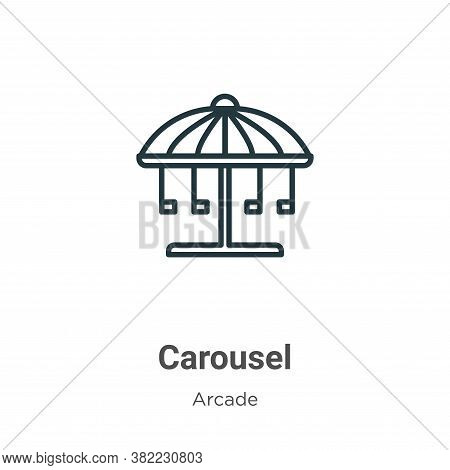 Carousel icon isolated on white background from entertainment collection. Carousel icon trendy and m