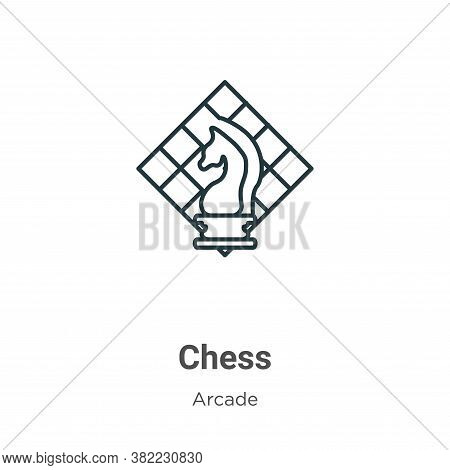 Chess icon isolated on white background from arcade collection. Chess icon trendy and modern Chess s