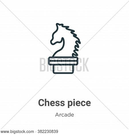 Chess piece icon isolated on white background from entertainment collection. Chess piece icon trendy