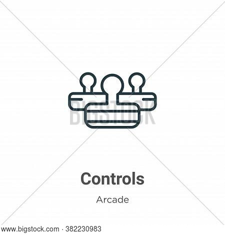 Controls icon isolated on white background from arcade collection. Controls icon trendy and modern C