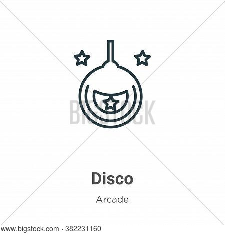 Disco icon isolated on white background from entertainment collection. Disco icon trendy and modern