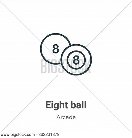 Eight ball icon isolated on white background from arcade collection. Eight ball icon trendy and mode