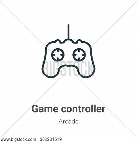 Game controller icon isolated on white background from entertainment collection. Game controller ico