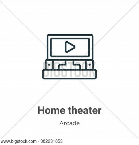 Home theater icon isolated on white background from entertainment collection. Home theater icon tren