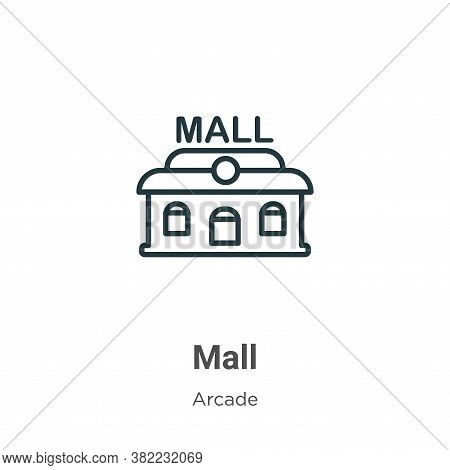 Mall icon isolated on white background from entertainment collection. Mall icon trendy and modern Ma