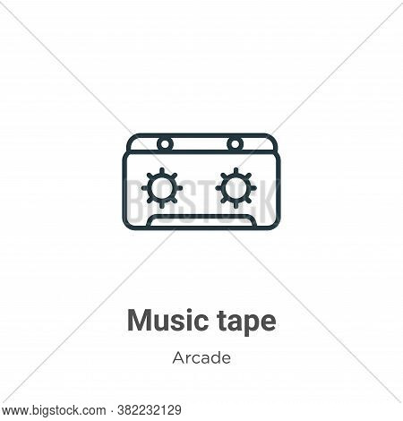 Music tape icon isolated on white background from entertainment collection. Music tape icon trendy a