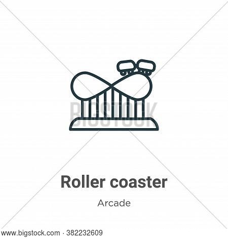 Roller coaster icon isolated on white background from entertainment collection. Roller coaster icon