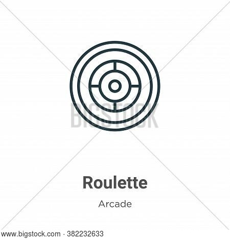 Roulette icon isolated on white background from entertainment collection. Roulette icon trendy and m
