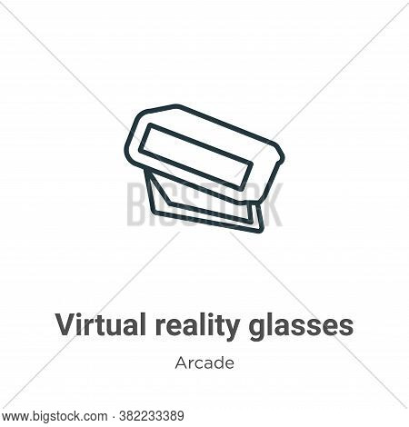 Virtual reality glasses icon isolated on white background from entertainment collection. Virtual rea