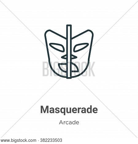 Masquerade icon isolated on white background from entertainment collection. Masquerade icon trendy a