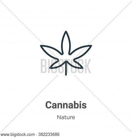 Cannabis icon isolated on white background from nature collection. Cannabis icon trendy and modern C