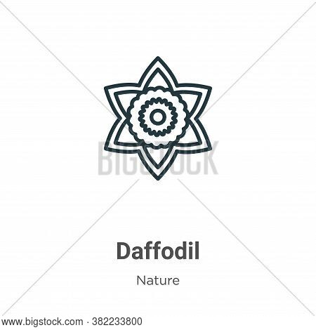 Daffodil icon isolated on white background from nature collection. Daffodil icon trendy and modern D