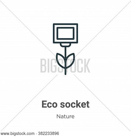 Eco socket icon isolated on white background from nature collection. Eco socket icon trendy and mode