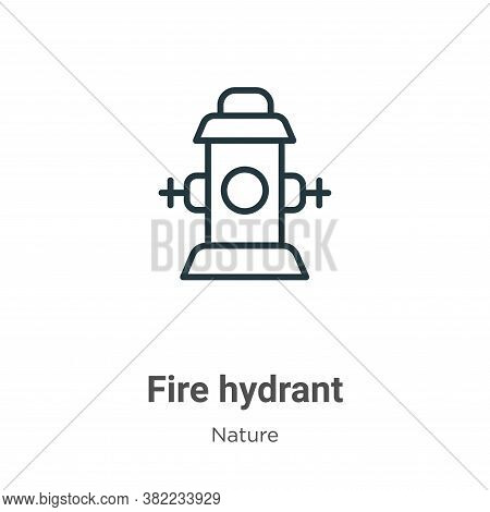 Fire hydrant icon isolated on white background from nature collection. Fire hydrant icon trendy and