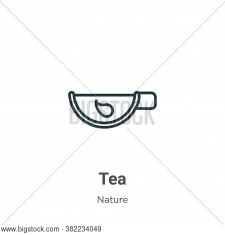 Green tea icon isolated on white background from nature collection. Green tea icon trendy and modern