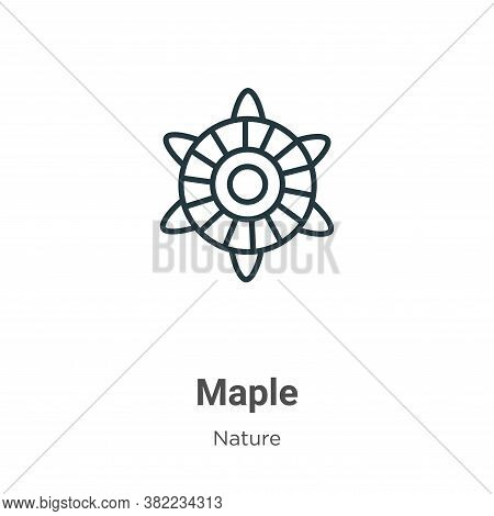 Maple icon isolated on white background from nature collection. Maple icon trendy and modern Maple s