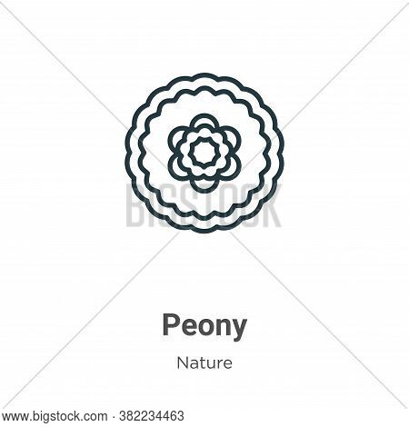 Peony icon isolated on white background from nature collection. Peony icon trendy and modern Peony s