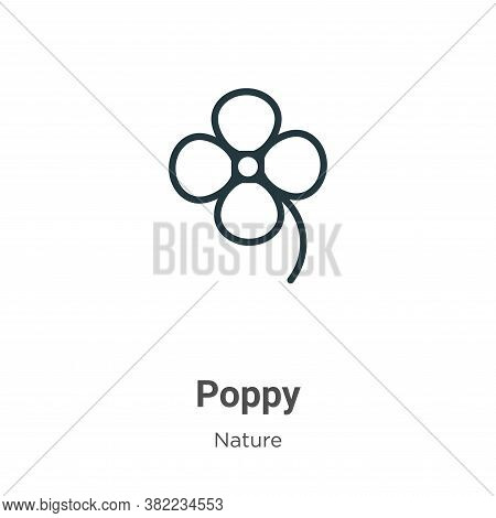 Poppy icon isolated on white background from nature collection. Poppy icon trendy and modern Poppy s