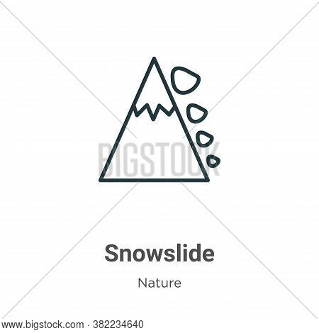 Snowslide icon isolated on white background from nature collection. Snowslide icon trendy and modern