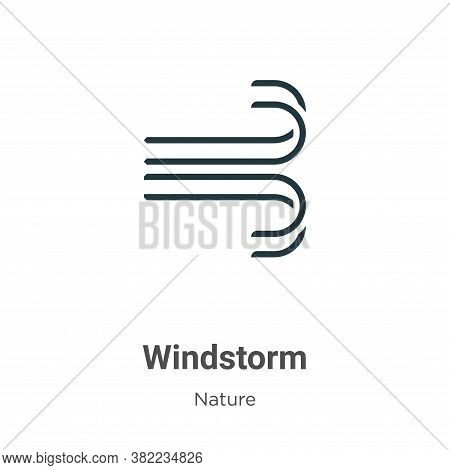 Windstorm icon isolated on white background from nature collection. Windstorm icon trendy and modern